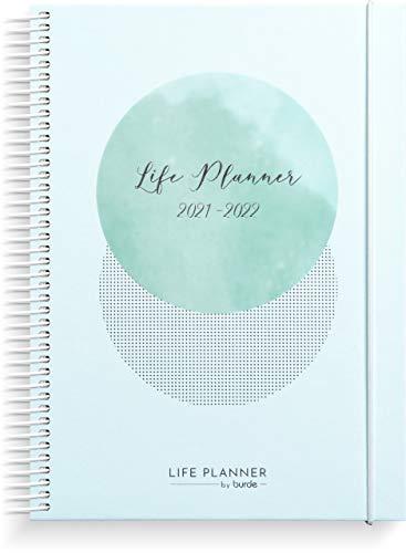 Life Planner Blue - Agenda planificadora de vida azul A5 organiza tu agenda con estilo, planificador semanal 2019-2020