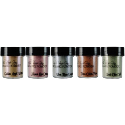 Lindy s Stamp Gang 2-Tone Embossing Powder, 0.5-Ounce, Nantucket Pearls, 5 Per Package