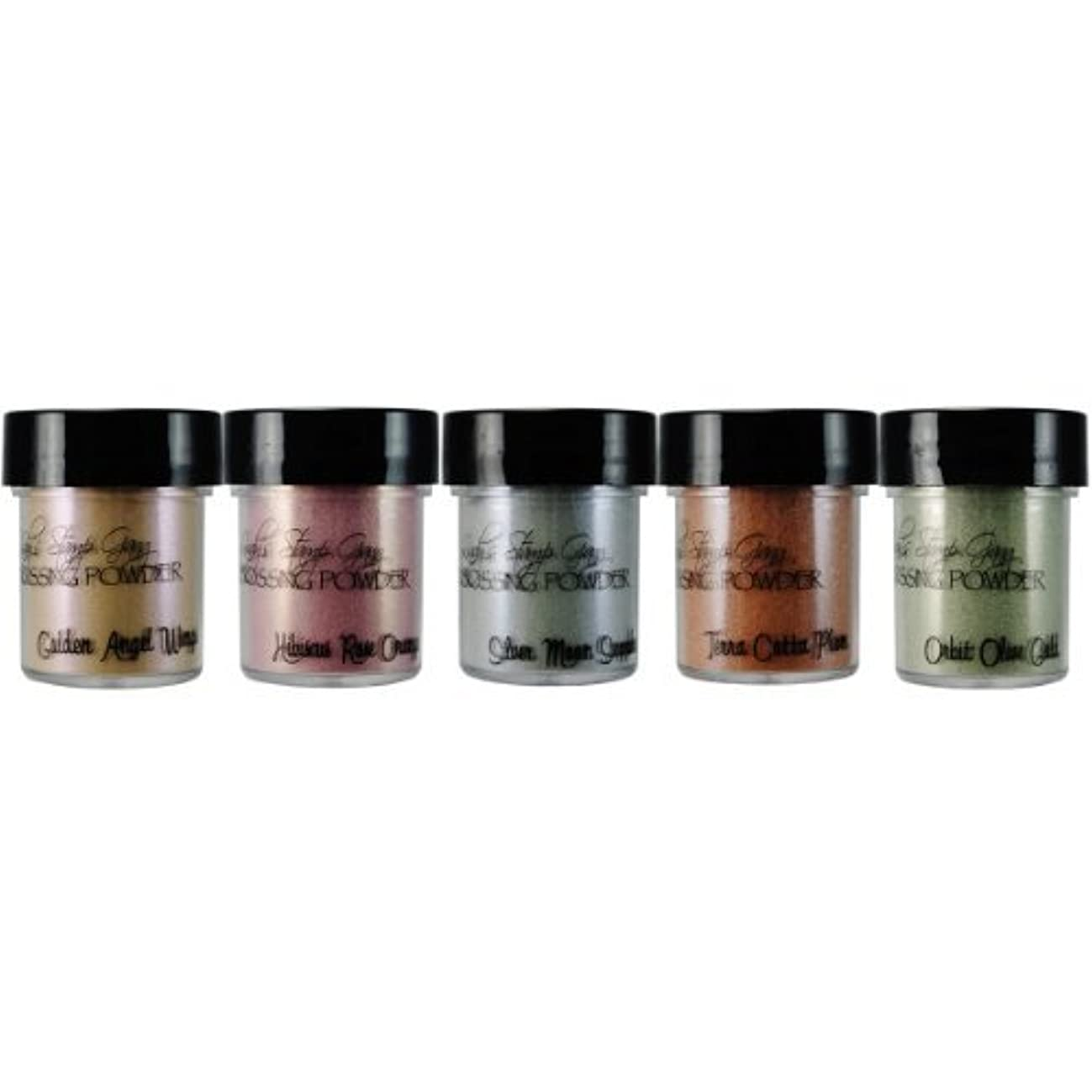 Lindy's Stamp Gang 2-Tone Embossing Powder, 0.5-Ounce, Nantucket Pearls, 5 Per Package