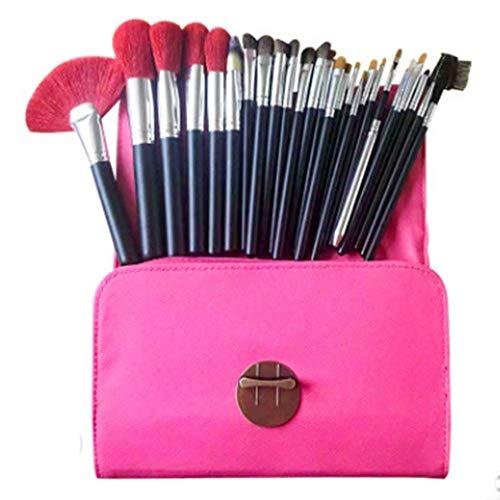 ZYFF huazhuangshua 26 Pinceaux de Maquillage, Pinceau Fard À Paupières Sourcils Fondation Correcteur Professionnel Beauté Maquillage Pinceau avec Pinceau Sac Rose