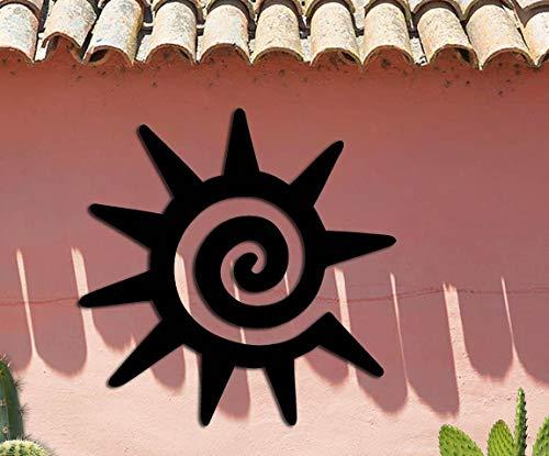 Sun Symbol - Southwest Design - Home & Garden - Medium (15w x 15h) Metal Art - Indoor - Outdoor Hand Made USA