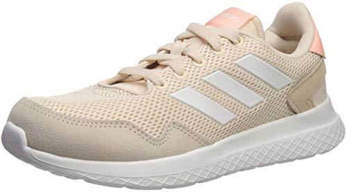 adidas Women's Archivo Sneaker, Linen/Cloud White/Glow Pink, 9 M US