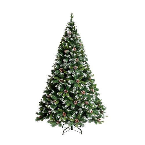 Arbre de Noël vert arbre artificiel de cryptage renforcé support en métal 3.93 pieds, décorations de vacances du Nouvel An décoration décoration intérieure et extérieure
