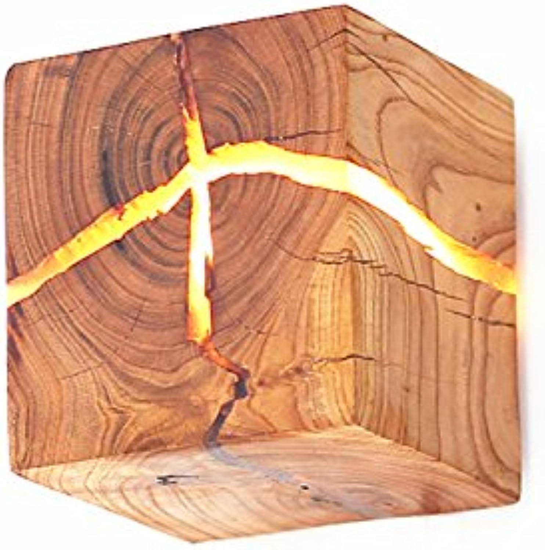 LED Wandleuchte Holz Wandleuchte Original Holz Nachttischlampe Gang Licht Dekoration Nachtlicht
