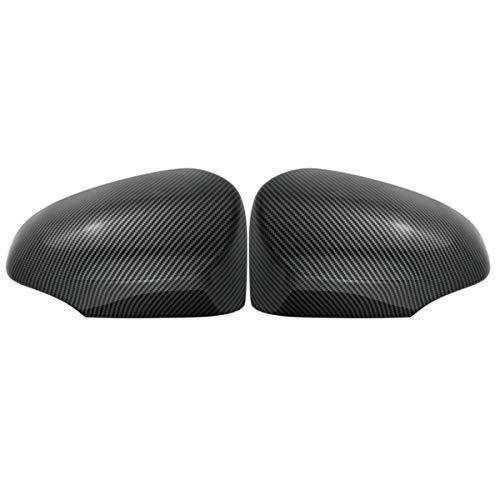 DJQNB Cubiertas de Espejo, para automóvil de Fibra de Carbono ABS Fuera de Las Tapas de ala de la Cubierta del Espejo retrovisor