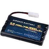 Melasta AA 9.6V 2000mAh ニッケル水素RCカーバッテリータミヤコネクター付き 多種RCカーに適用(1年の製品保証)