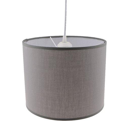 joyMerit Zylindrische Kronleuchter Schatten Lampenschirm Abdeckung Deckenlampenschirm Home Lighting - Grau