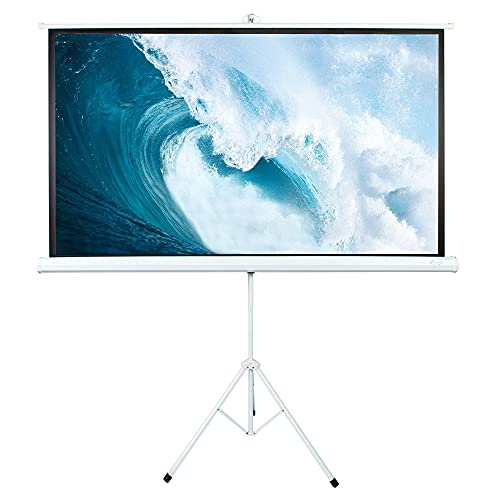 ShowMaven Projection Screen with Stand 100 Inch 16:9 4K HD Rear Front Indoor Outdoor Movie Screen, Adjustable Pull Up Foldable Stand( 1.1Gain, 4:3,160° Viewing Angle & A Carry Bag)