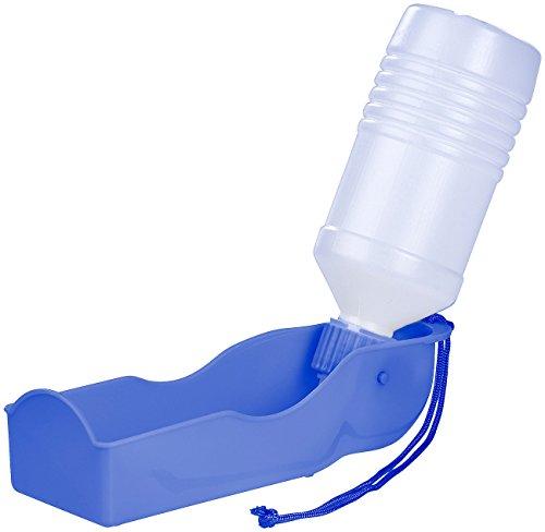 Sweetypet Hundetrinkflasche: Tragbarer Wasserspender für Hunde, inkl. Trageschlaufe, 250 ml (Trinkschale für Hund und Katze)