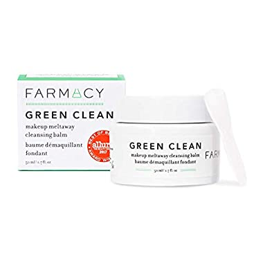 Farmacy Natural Makeup Remover – Green Clean Makeup Meltaway Cleansing Balm Cosmetic – Travel Size 1.7 oz