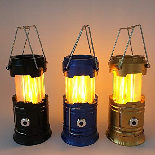 Tente de Camping Solaire Portable Lanterne Lampe de Poche rétractable d'éclairage d'urgence Camping Lanterne Gold US Plug