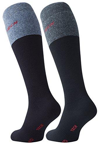 4 paires de chaussettes mi bas, super chaud, THERMO TECH de VCA - 39 42 Multicolore