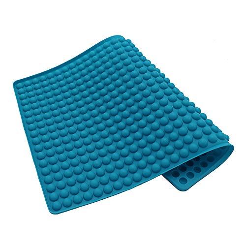 IWILCS Silikon Backmatte, Silikonbackform, 2cm Halbkugel Silikonmatte mit Noppen,Backform für Hundekekse & Hundeleckerlies, Backpapier - Backunterlage - Pralinenform, 38,5x27,5cm
