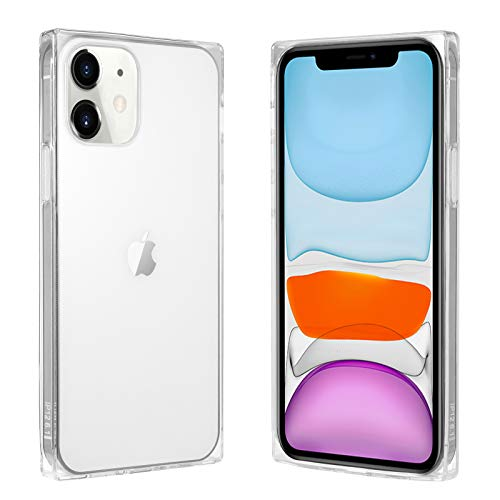 VUIIMEEK Square Case for iPhone 11,Cute Crystal Clear Design Slim Fit Flexible Soft TPU High Impact Shockproof with Reinforced Bumper Cool Transparent Case Protective Cover for iPhone 11 6.1