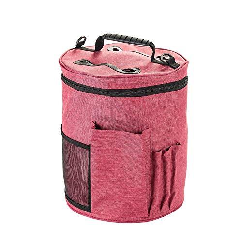 Große Premium Strick-Tasche, HomeYoo Stricktasche Aufbewahrung, Wolle Aufbewahrungstasche für Stricken Zubehör, Garn Aufbewahrungsbeutel für die ultimative Verwahrung von Häkel Strickgarn (Groß)