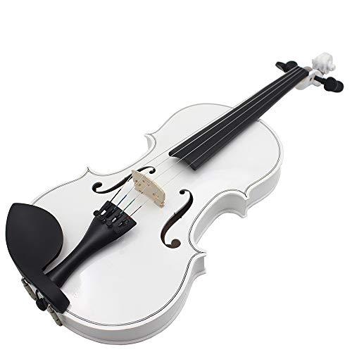 SUNXK Die neuen Schwarz-Weiß-Licht Universal-gängige Praxis Violine Holz for Erwachsene Musikinstrumente (Color : Black White, Size : 1/4)