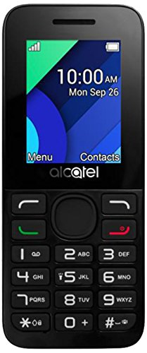 Alcatel 1054D 4,57 cm (1,8 Zoll) Handy 10.54 (Dual SIM, Bluetooth, Taschenlampe, 800mAh Akku, Radio, FM, microSD Kartenleser) weiß