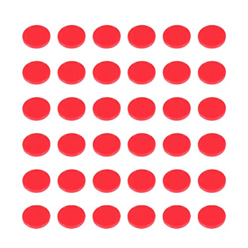 TOYANDONA Pequeños Contadores de Aprendizaje de Plástico Discos Fichas de Bingo Discos de Conteo Marcadores para Prácticas de Matemáticas Y Fichas de Juego de Fichas de Póker 200 Piezas (Rojo)