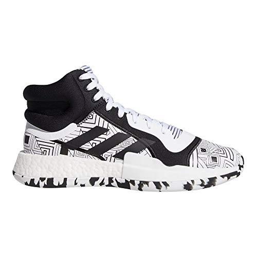 adidas Hombre Marquee Boost Zapatos de Baloncesto Blanco, 46 2/3