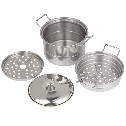 Cestas de vapor para cocinar, olla de vapor de acero inoxidable 3...