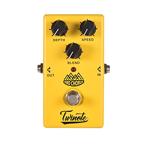 Muslady Analog Chorus Guitar Effect Pedal Processsor Full Metal Shell with True Bypass