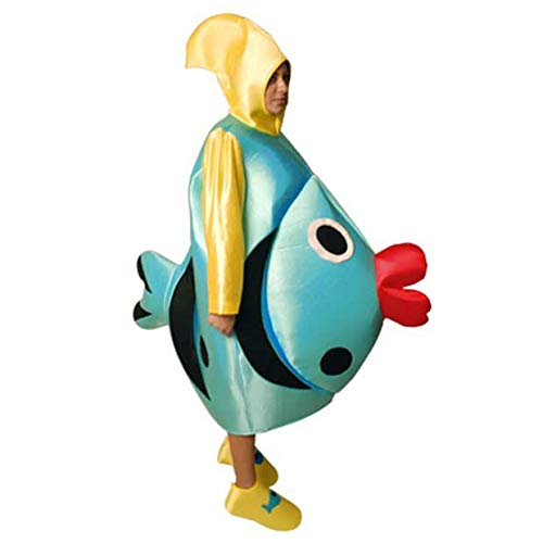 Disfraz de Pez Azul - Unisex, L