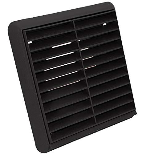 Kair Ventilation espiga redonda Rejilla de ventilaci/ón 100 mm color negro