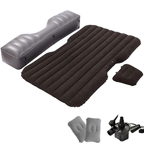 kalili 車中泊 エアーベッド エアーマット アウトドア用 収納便利 多機能 枕付き ポンプ付き (ブラック)