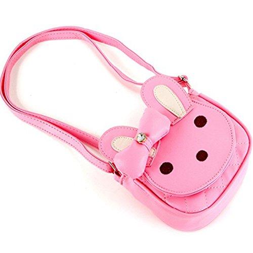 Naerde lapin sac à main tout-petits enfants filles garçons coton épaule sac pépinière/randonnée/voyage sac rose