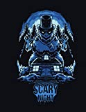 Scary night : Primary Story Journal: lined Midline and Picture Horror christmas | Grades K-2 School Exercise Book | 100 Story Pages - Blue & black ... 8.5cx11 inch format Paper color: White