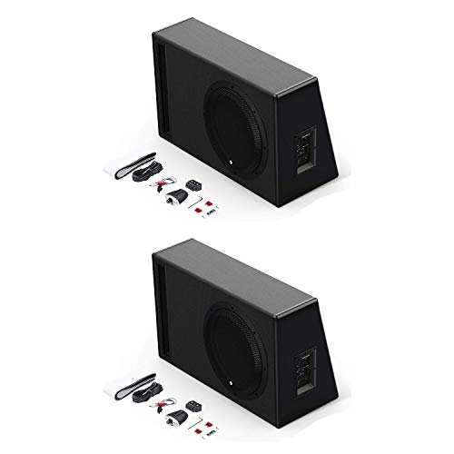 Rockford Fosgate P500-12P Punch 12 inch 500 Watt Powered Ported Woofer Enclosure System (2 Pack)