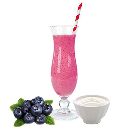 Heidelbeer Joghurt Molkepulver Luxofit mit L-Carnitin Protein angereichert Wellnessdrink Aspartamfrei Molke (Heidelbeer Joghurt, 1 kg)