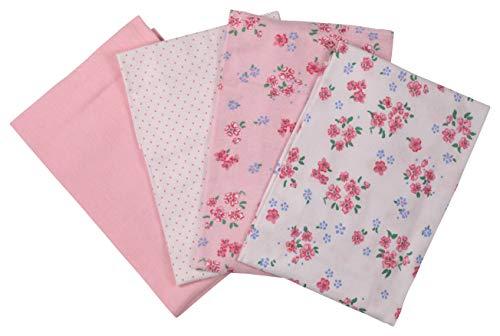 Laura Ashley - Juego de 4 mantas escaleras, diseño floral pequeño