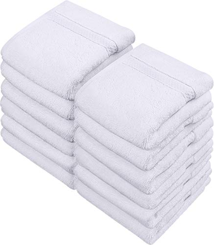 Utopia Towels - Luxury Washcloths Set 12 x 12 inches, White - 700 GSM 100% Cotton Premium Quality Flannel Face Cloths, Highly...
