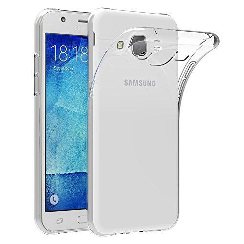AICEK Coque Samsung Galaxy J5 2015, Etui Silicone Gel Samsung Galaxy J5 2015 (J500FN) Housse Antichoc Samsung J5 Transparente Souple Coque de Protection pour Samsung Galaxy J5 2015 (5.0 Pouces)