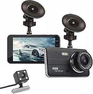 ziqiangnongye ドライブレコーダー 前後カメラ 暗視カメラ リアカメラ 防水 バックカメラ 170度広角レンズ 4インチIPS HD 1080P 駐車監視 常時録画 カードライビングレコーダー