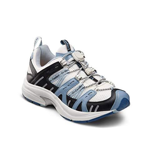 Dr. Comfort Refresh Women's Therapeutic Diabetic Extra Depth Shoe: White/Blue 11 Medium (A-B)