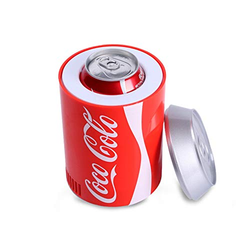 Honoen Mini-Kühlschrank mit Cola-Dose, tragbarer Kühlschrank fürs Auto, intelligenter Kühler, USB-Aufladung, integrierte Halbleiterkühlung für Büro oder Bar