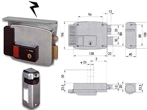 pequeño y compacto Cisa 30030 11731-50-1DX con cilindro de fijación de cerradura eléctrica