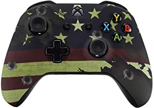 American Flag Rapid Fire Custom Modded Controller Compatible with Xbox One S/X 40 Mods for All Major Shooter Games WW2 (with 3.5 Jack)
