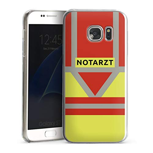 DeinDesign Hard Case kompatibel mit Samsung Galaxy S7 Schutzhülle transparent Smartphone Backcover Beruf Notarzt Uniform