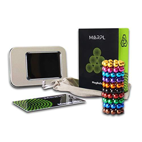 MARPL® MagBallz - 100 Stück Neodym Magnetkugeln Bunt 5mm - extra Starke Anti Stress Magnetic Balls als Büro Gadget und für Magnettafeln