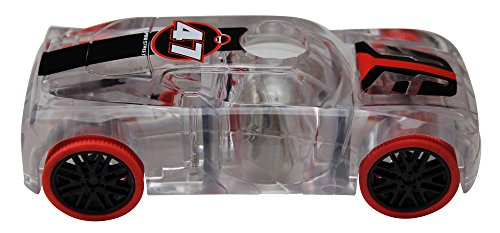 Marble Racers Award Winning Light Up 1:43 Scale Race Car with Quick Shot Pull-Back Motor with Red Wheels
