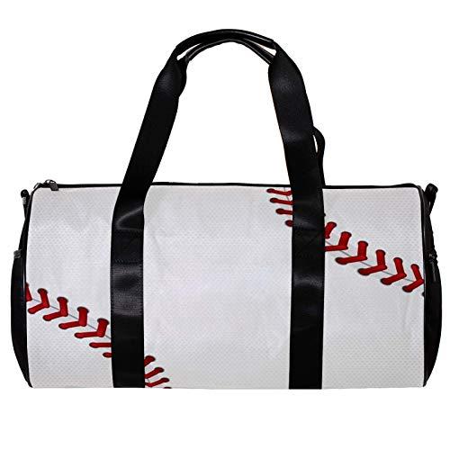 Bolsa de deporte redonda con correa de hombro desmontable con cordones de béisbol Diseño de entrenamiento bolso de entrenamiento para mujeres y hombres