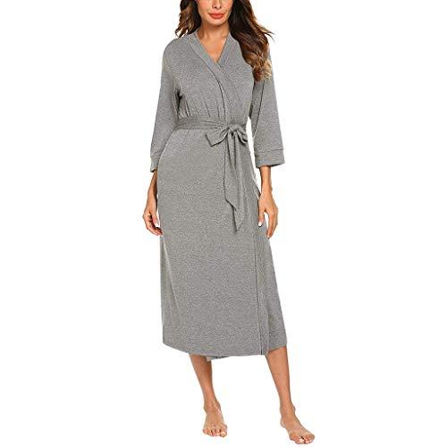 WoWer Zertifiziert Bademantel für Damen mit Kapuzen - Morgenmantel mit Baumwollfrottee, 2 Taschen, Gürtel - Saunamantel, Weich, Saugfähig und Bequem