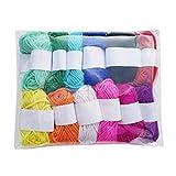 YOYOHO 12 Colores Surtidos niños Bricolaje Tejer Lana Hilo Crochet acrílico...