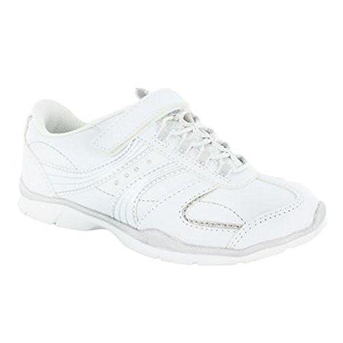 Danskin Girls Athletic Running Cheerleader Cheerleader Shoe (7, Silver-White)
