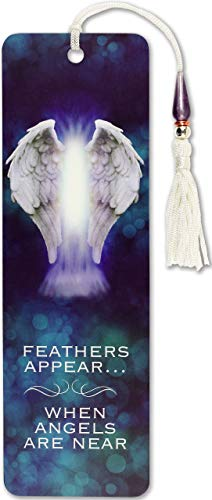 Feathers Appear When Angels Are Near Beaded Bookmark