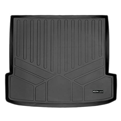 SMARTLINER All Weather Custom Fit Cargo Liner Trunk Floor Mat Black for 2020-2021 BMW X6 Cargo Fits Without Spare Tire