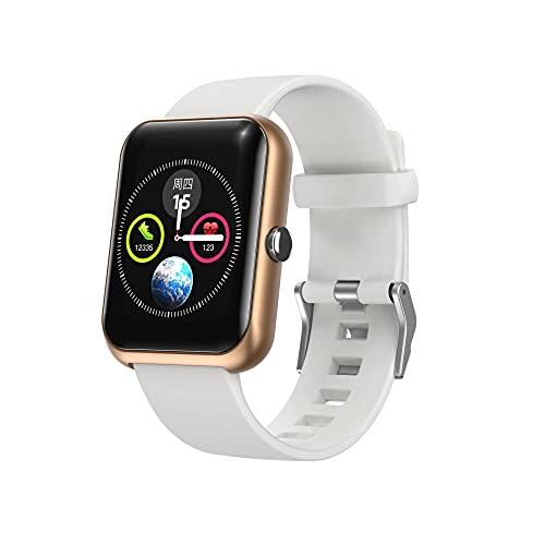 S20 Smart Watch, Reloj Inteligente de Pantalla táctil de 1.3 Pulgadas, rastreador de Fitness con Monitor de frecuencia cardíaca, IP68 Impermeable, Reloj Inteligente para Hombres y Mujeres-Oro